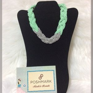 Paparazzi Necklace Seed Bead Two Tone braid